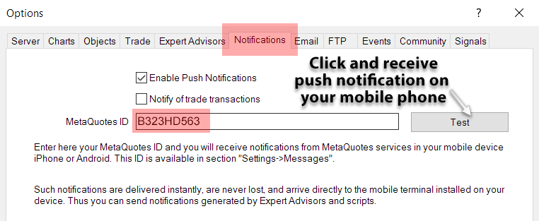 mt4 mobile push notification